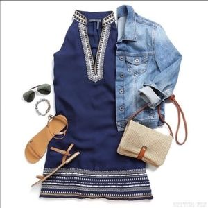 thml chana embroidered dress